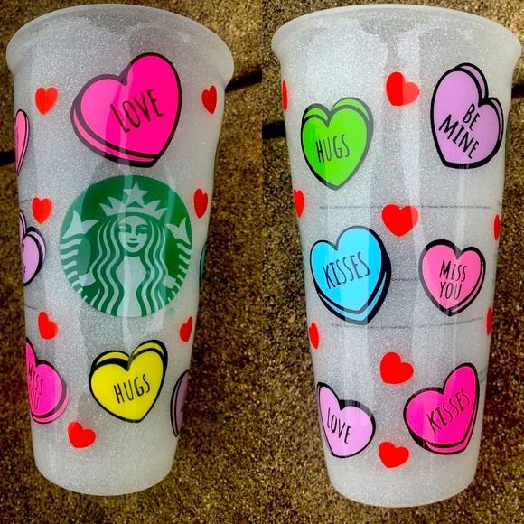Starbucks Venti custom Valentine's theme